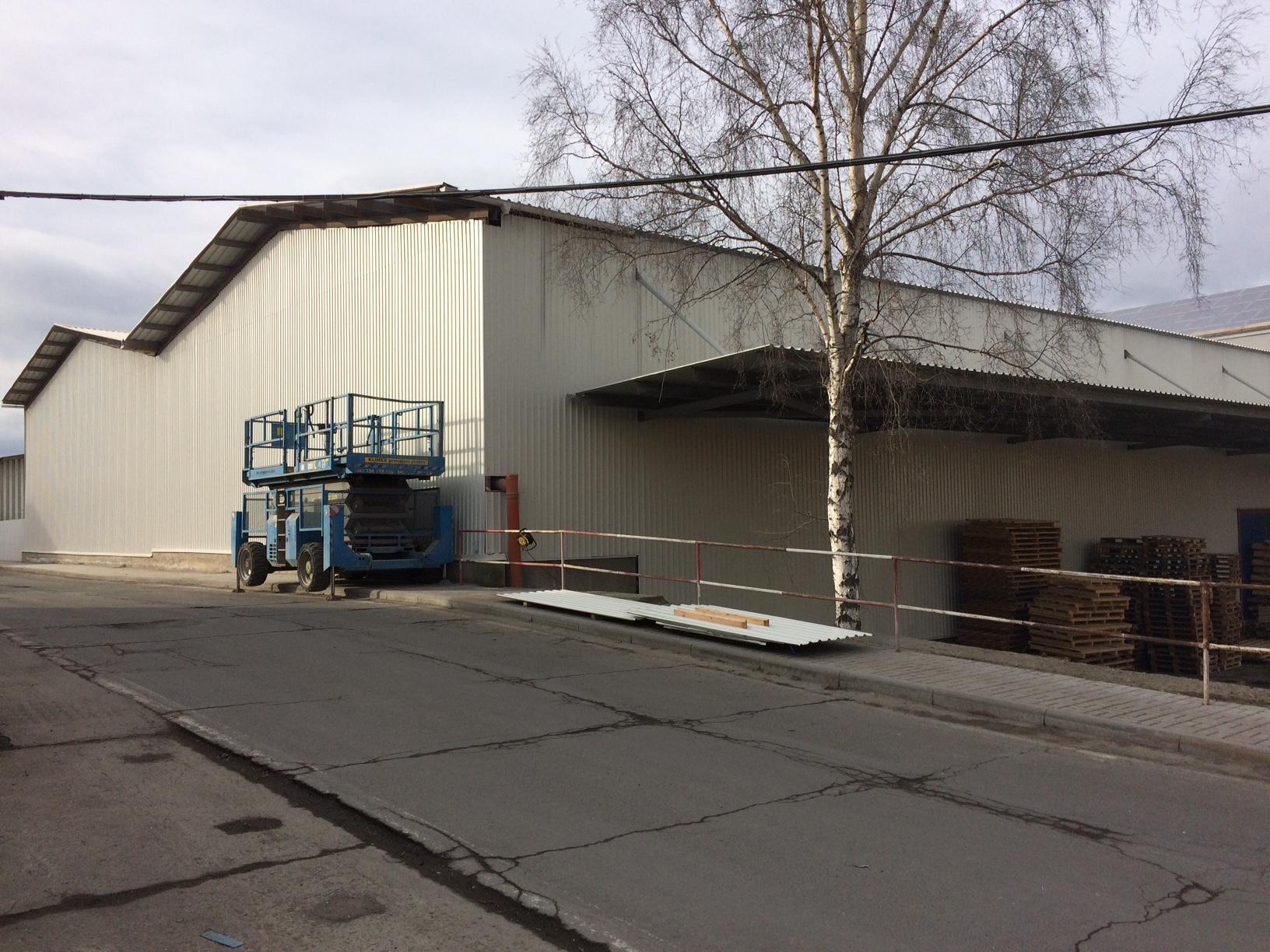 Metal Trade Comax Velvary renovace kompletní haly